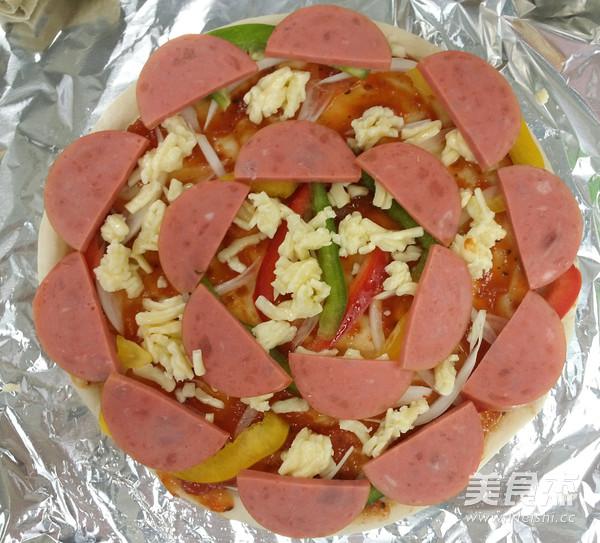 火腿彩椒披萨的家常做法