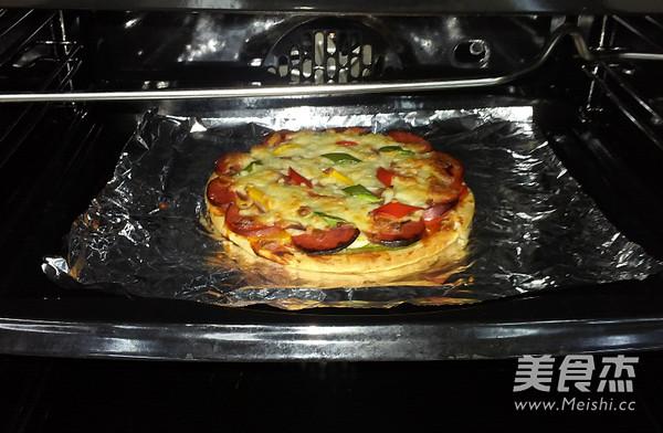 火腿彩椒披萨怎么炒