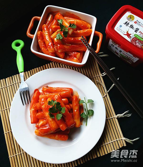 韩式辣年糕成品图