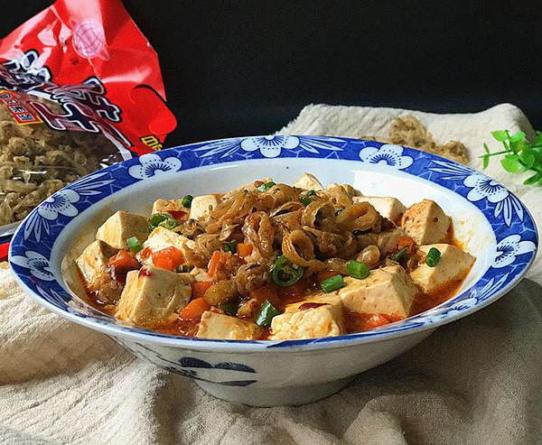 干贝边炖豆腐成品图