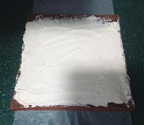 可可花奶油蛋糕卷#下午茶#的做法大全