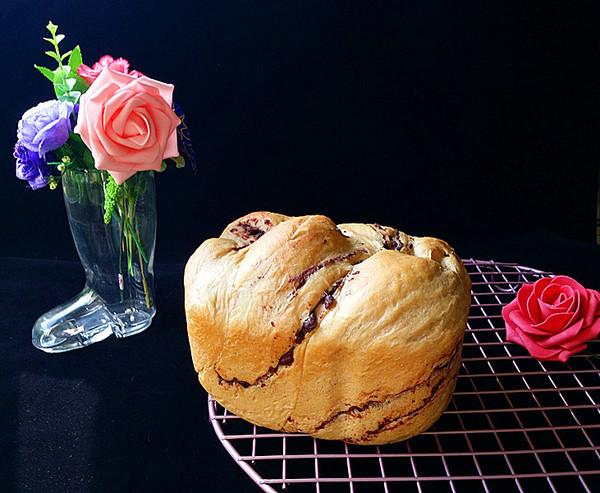 咖啡酸奶豆沙面包(独创配方全新做法)成品图