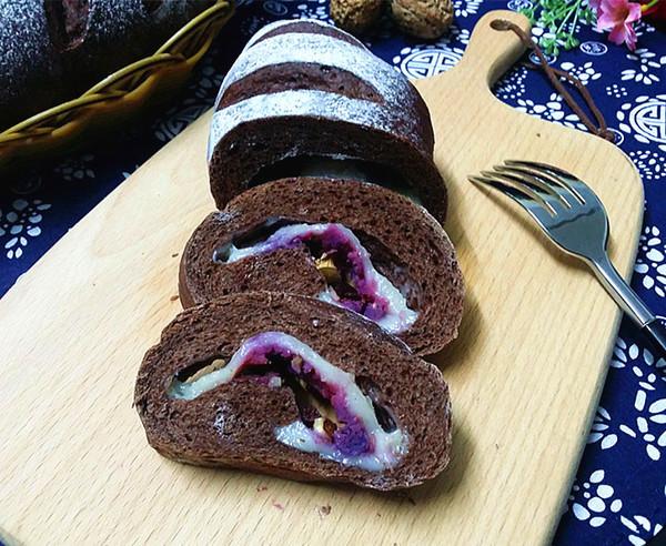 紫薯可可麻薯软欧成品图