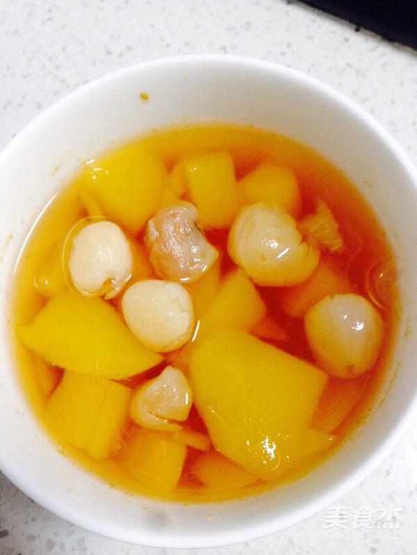 芒果桂圆红糖水成品图