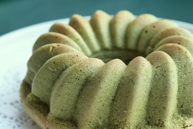 抹茶桂花蛋糕成品图