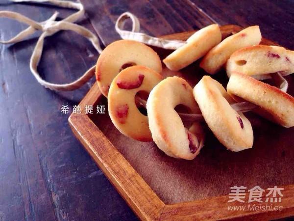 蔓越莓杏仁圈饼成品图