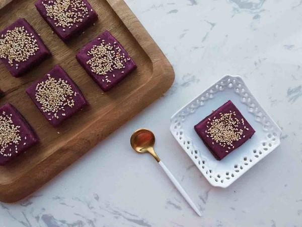 美食DIY ——紫薯豆沙糕