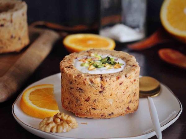椰枣坚果杯子蛋糕成品图