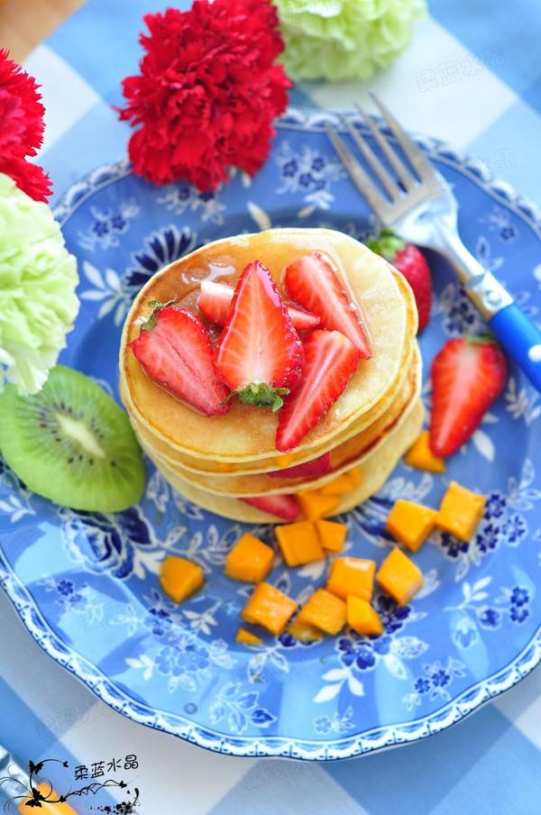 草莓松饼成品图