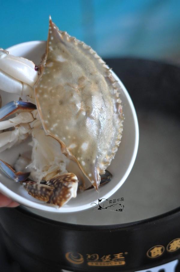梭子蟹海鲜粥怎么吃