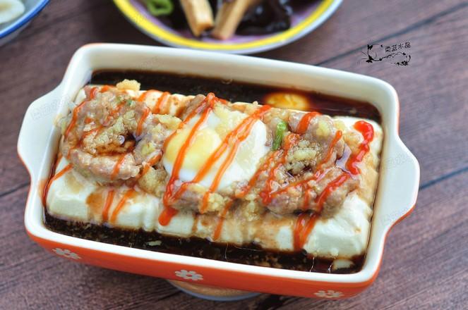 肉蛋蒸豆腐成品图