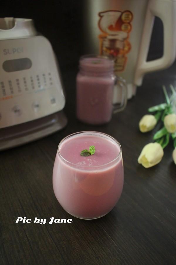 紫薯豆浆成品图