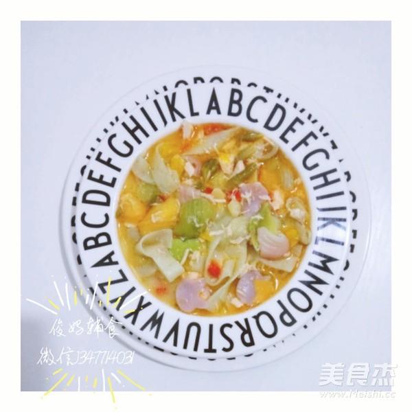 三文鱼果蔬面成品图