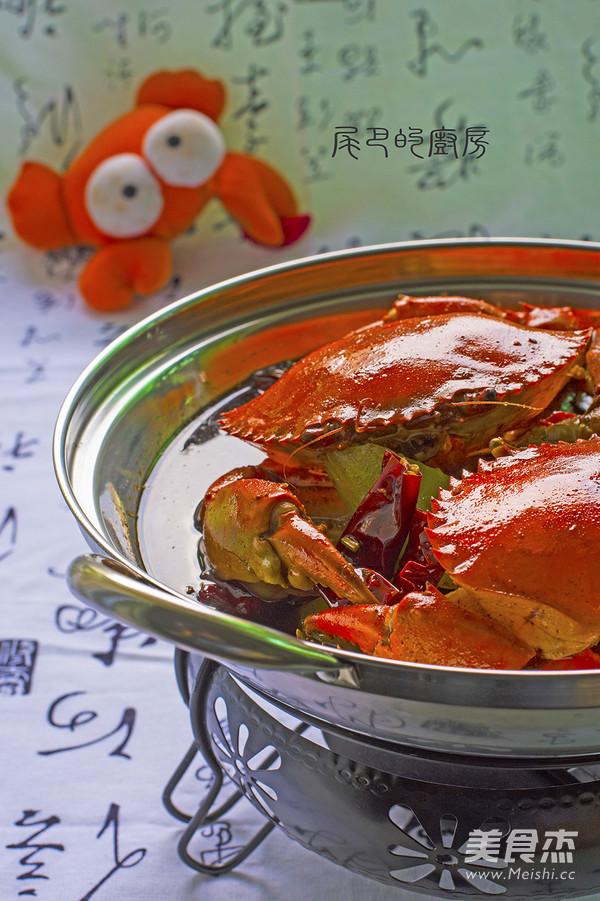 干锅香辣蟹成品图
