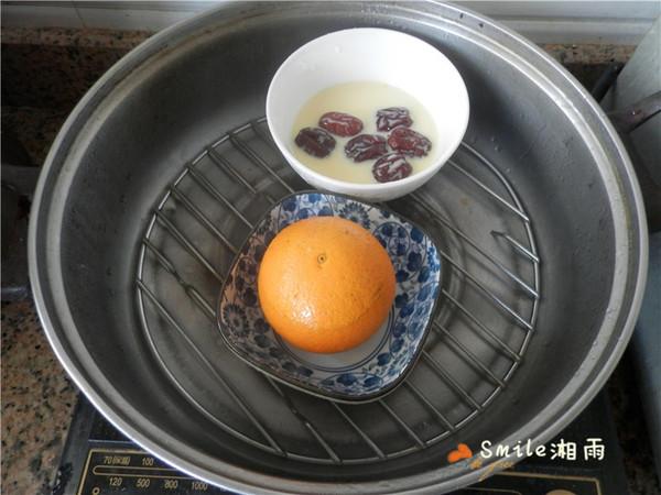 国橙蒸枸杞蛋怎样做