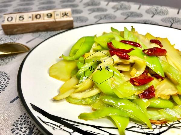青椒炒笋片#下饭菜成品图