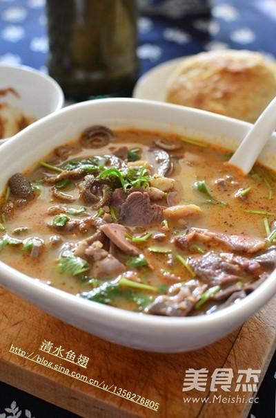 天津风味羊汤成品图