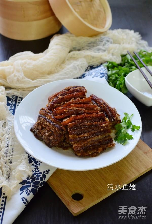 米粉蒸肉成品图