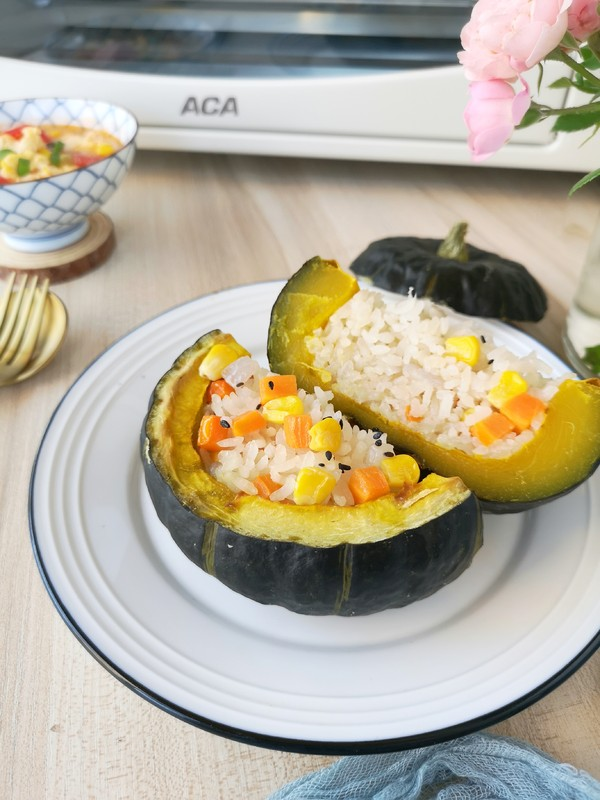 贝贝南瓜米饭盅成品图