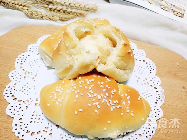 萝卜干面包卷成品图