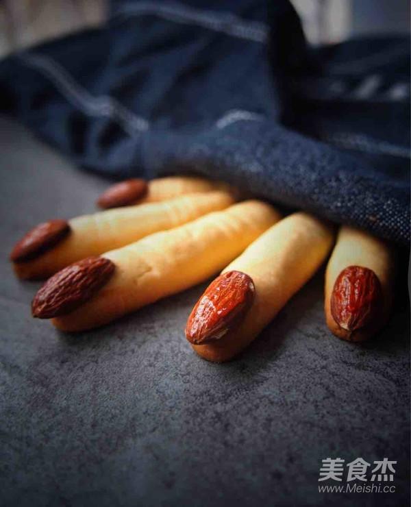 万圣节手指饼干成品图