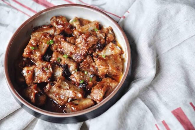 蒜蓉豆豉蒸排骨成品图