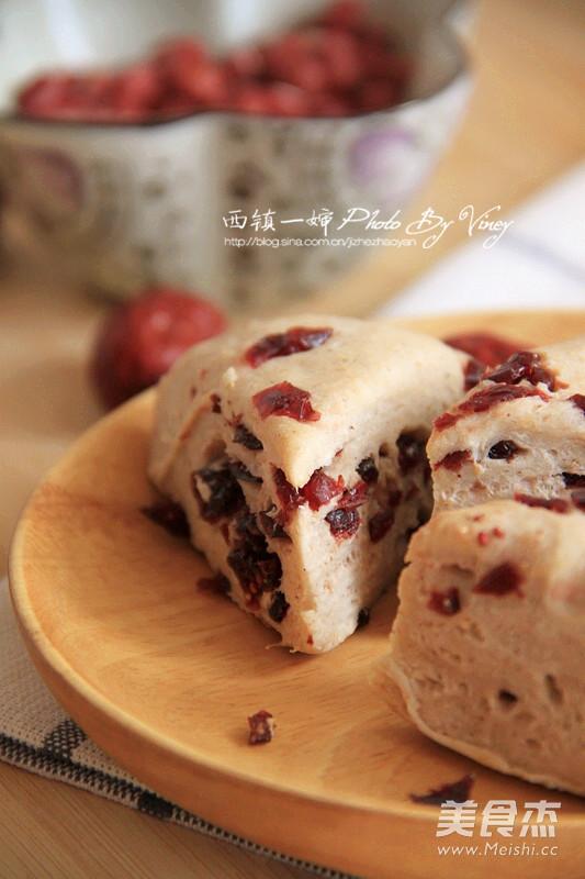 红豆浆蔓越莓司康成品图