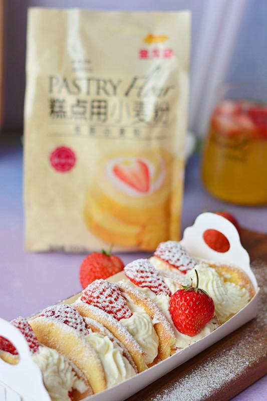 草莓欧蕾成品图