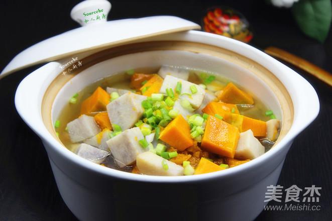 大芋头的做法_南瓜芋头煲的做法_南瓜芋头煲怎么做_美食杰