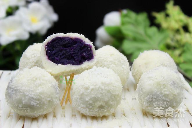 紫薯糯米糍成品图
