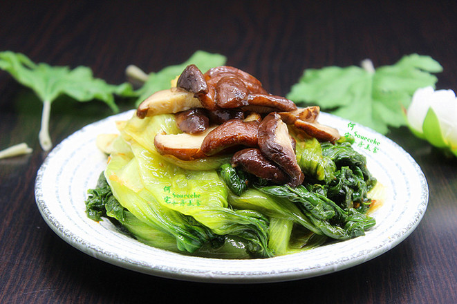 香菇炒生菜成品图