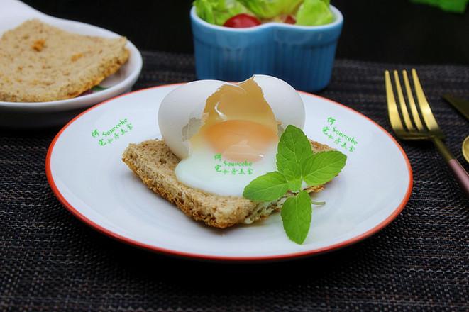 太阳蛋煎吐司成品图