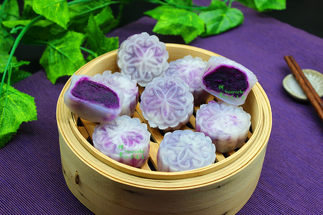 紫薯水晶饼成品图