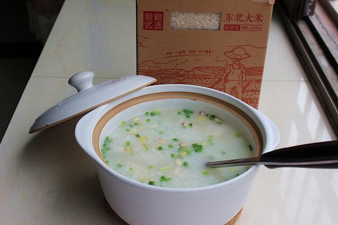砂锅生鱼粥成品图