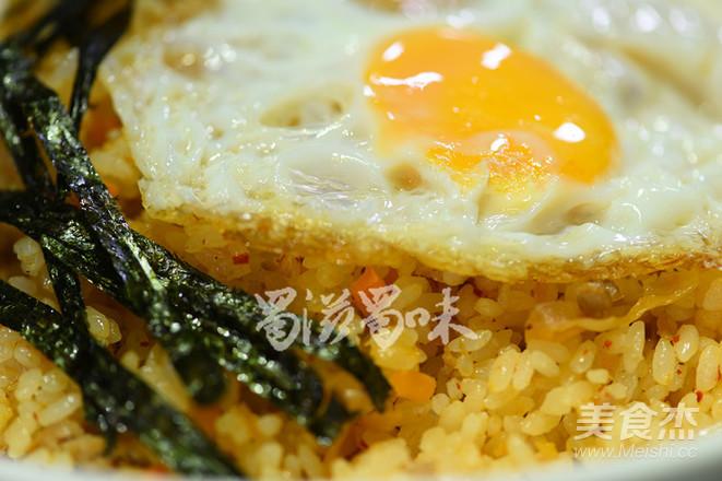 韩国泡菜炒饭成品图